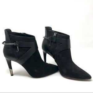 """Dolce Vita 9.5 Black Pointed Metal 4"""" Heeled Boots"""